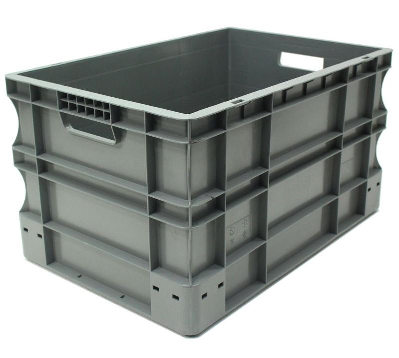 Caja de pl stico gris eurobox 40 x 60 x 33 cm ref spk 4632 - Cajas de plastico ...