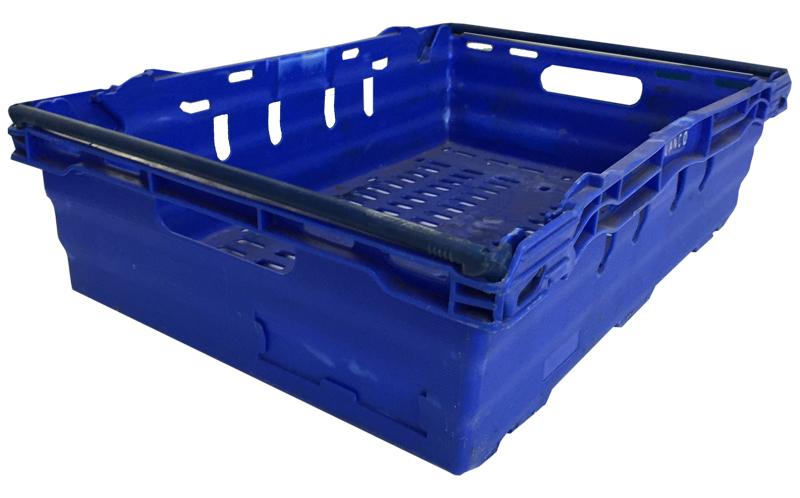 Caja en polipropileno apilable usada 60 x 40 x 16 5 cm - Cajas de polipropileno ...