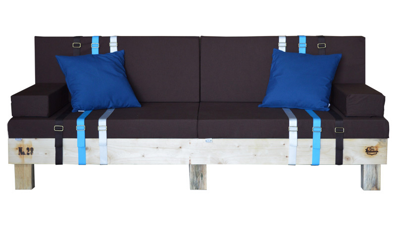 Sofa nature palet en madera reciclada 80 x 200 x 38 cm for Sofa cama de madera reciclada